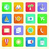 Travel Vacation Icons Set