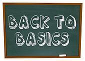 Back to Basics - Chalkboard