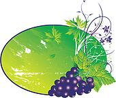 The stylised grapes