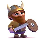 3d Viking stands ready