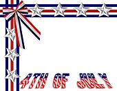 July 4Th background border