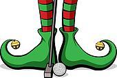 Golf Christmas Elf Feet