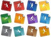 Sports Icon Sticker Set