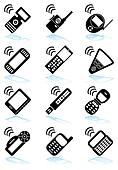 Mobile Device Black Icon Set
