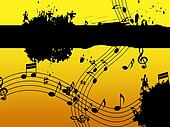Music Background Means Black Line Classical And Harmony