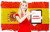 spanish language learning concept