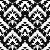 Hand drawn painted seamless pattern. illustration