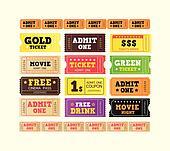 Vintage cinema tickets. BIG COLLECTION.