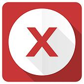 cancel red flat icon