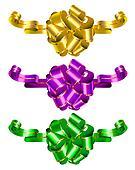 Three color decorative bows