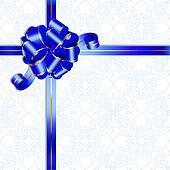 Dark blue celebratory bow