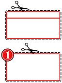 Large coupon cut out