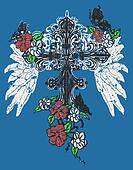 Heraldic wing cross