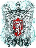 cross heraldic crest eagle