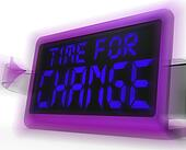 Time For Change Digital Clock Shows Revision New Strategy And Go