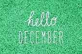 Hello December greeting
