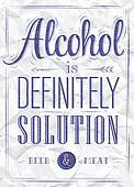 Poster joke Alcohol ink