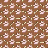 brown paw print background