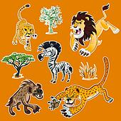 Africa Animals & Trees Collection 1