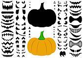 Illustration Of Halloween Pumpkins