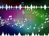 Music Color Background Shows Sounds Harmony And Singing
