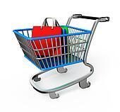 Shopping trolley illustration