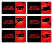 Warning set stickers