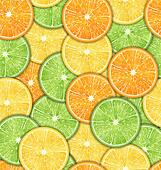 Seamless Pattern with Oranges, Lemons and Limes
