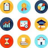 Educational flat icons