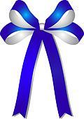 blue - silver ribbon
