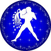 zodiac button aquarius