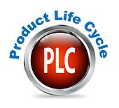 Round button of product life cycle  - plc