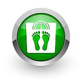 weight green glossy web icon