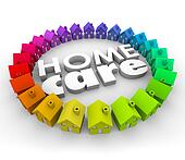 Home Care Words 3d Letters Health Therapy Hospice Service