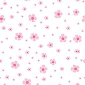 Seamless pattern with small pink flowers