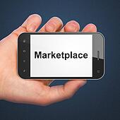 Marketing concept: Marketplace on smartphone