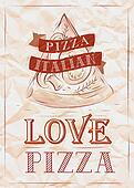 Poster love pizza.