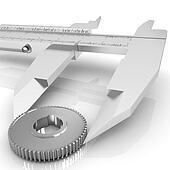Vernier caliper measures the cogwheel