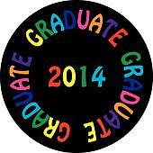 GRADUATE 2014 colorful ON BLACK BACGROUND