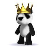 3d King panda bear