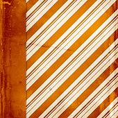 Orange vintage striped background with left side border