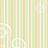 Retro peach and green striped background with swirls