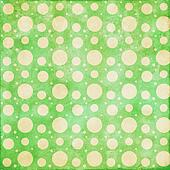 Retro dot lime green with cream background