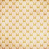 Peach orange flower dot retro background