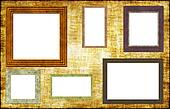 Photo Frames on a Grunge Wall