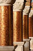 Columns in an ancient orthodox monastery