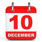 Calendar. 10 December.