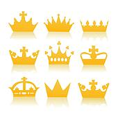 illustration of different crowns