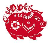 Chinese Zodiac of pig year