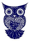 paper-cut of  owl